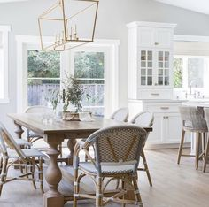 10 Creative Ideas for Dining Room Walls Farmhouse Dining Set, Farmhouse Chairs, French Country Dining, Modern Farmhouse, Farmhouse Decor, Farmhouse Kitchens, Dining Set With Bench, Dinning Table, Dining Area