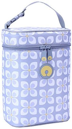 Boppy Bottle Bag, Pinwheel Print, Grey.Keep your baby bottles cool in this stylish insulated bottle bag. Holds two bottles or your baby's snacks. Strap can be opened to attach bag to stroller.