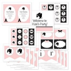 Glamour Girl Printable Party Collection from The TomKat Studio Shop www.shoptomkatstudio.com
