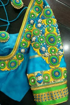 Wedding Favors Indian Save The Date 18 Ideas For 2019 Hand Work Blouse Design, Simple Blouse Designs, Blouse Neck Designs, Sleeve Designs, Wedding Saree Blouse Designs, Pattu Saree Blouse Designs, South Indian Blouse Designs, Mirror Work Blouse, Maggam Work Designs