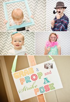Grab a prop and strike a pose on your First Birthday!