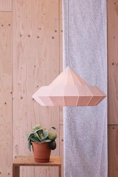Etsy の NEW: Woodpecker lamp from birch wood veneer by nellianna Origami Lampshade, Muuto, Modern Clock, Color Effect, Wood Veneer, Lampshades, Wood Colors, Decoration, Save Energy