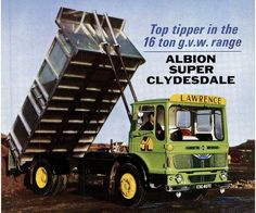 Albion Super Clydesdale Tipper J. Lawrence (seacoaler) Tags: old truck lorry british adverts