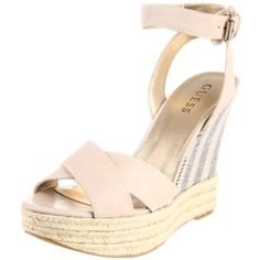 Guess Women`s Kambria Wedge Sandal,Natural,8.5 M US $110.00