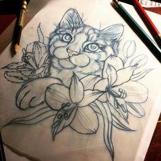 Very cute Kitty tattoo