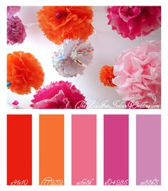 Orange pop! color board - lovely bright cheerful colours.