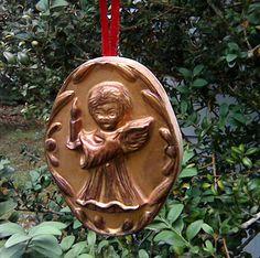 Vintage Christmas Ornament Handmade Gold Angel Christmas