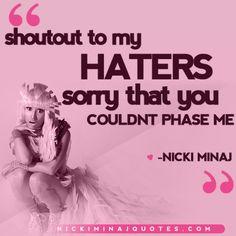 Shoutout to my Haters | Nicki Minaj Quotes #quotes #nickiminajquotes #nickiminaj
