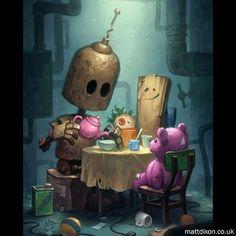 18 Ideas for art surrealista triste Character Concept, Concept Art, Character Design, 3d Character, Arte Cyberpunk, Arte Robot, Steampunk, Sci Fi Art, Whimsical Art