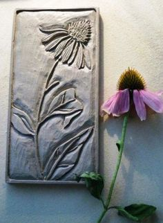 Cone Flower - Ecinacea panel by Val Webb