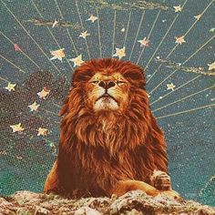 """The concept of lion, having the same characteristics as """"God"""", depicts the heavenly atmosphere of this painting. Available in color scheme,"""