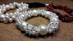 Pulsera de Perlas en un modelo sutil y atractivo....Clase#11