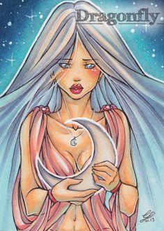 Illustration, Copic Art, Comic, Manga, ACEO Card / Kakao-Karte by Dragonfly Artworks