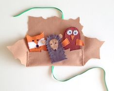 Super Cute! DIY Forest Friends Finger Puppets via Handmade Charlotte