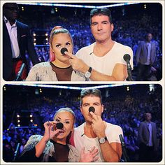 Demi Lovato and Simon Cowell