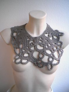 OOAK Summer Dream Necklace Crocheted Special Cotton Collar NEW COLECTION by NonnaLia | ETSYok $59