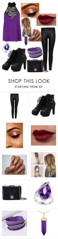 """""""Party all night"""" by alphafemal ❤ liked on Polyvore featuring Nicole Miller, Alexander McQueen, Chanel, Effy Jewelry and Simone I. Smith"""