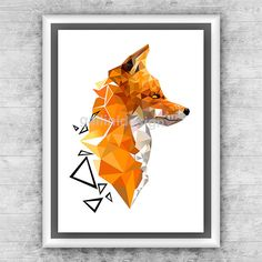 Geometric Art Print Animal printable poster by GalliniDesign
