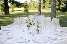 Coprisedie matrimonio ~ Matrimonio vintage con peonie e gabbiette table decorations