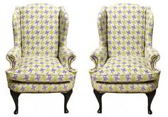 These make amazing Host and Hostess chairs! Wingback is timeless!
