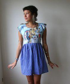 Star Wars Polka Dot Mini Dress Sz XS S M L Rusty Cuts by rustycuts, $75.00