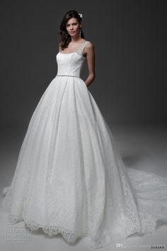 Classic Simple Wedding Dresses 2017 Sleeveless Scoop Neckline A Line Ball Gown Low Back Royal Train Wedding Gowns The Knot Wedding Dresses Tidebuy Wedding Dresses From Gonewithwind, $201.01| Dhgate.Com