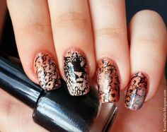 Guepard nail art