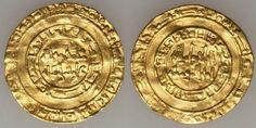 Cairo Egypt Fatimid Gold Coin 996-1021 AD Al-Hakim bi-Amr Allah Dinar Very Fine