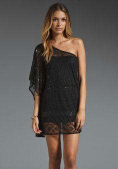 PATTERSON J. KINCAID Hemmingway Dress in Black at Revolve Clothing - too cute!