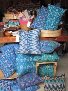ikat cushions - Gypsy River