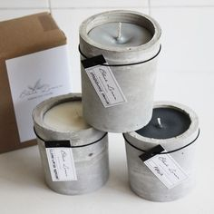 Scented Soy Candle - Cement Pillar