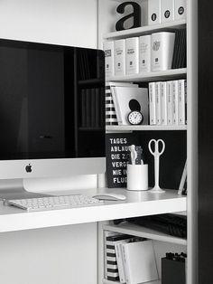built in desk details