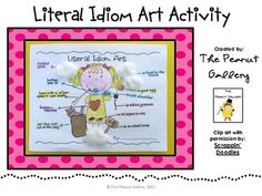 """$2.00 Your students will be """"on cloud nine"""" with this fun idiom art activity!"""