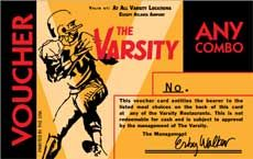 The Varsity Cafe-when you are need of a basic breakfast from an old school place, this is the place to go!