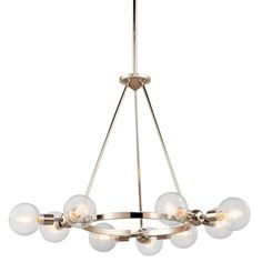 Adjustable Modern Globe Chandelier - $450 http://www.shadesoflight.com/adjustable-modern-globe-chandelier.html