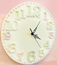 Cute Pastel Wall Clock For The Nursery Decor Ideas