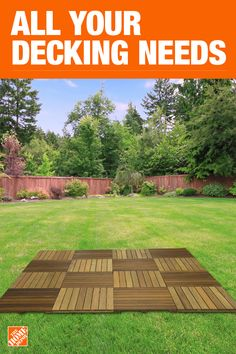 Fix up your existing deck or start one from scratch. Either way, you'll find all the decking materials you need here. Go with a custom composite deck or stick with traditional pressure treated wood for a durable and long-lasting outdoor destination Backyard Patio Designs, Backyard Projects, Outdoor Projects, Backyard Landscaping, Backyard Ideas, Outdoor Spaces, Outdoor Living, Outdoor Decor, Porches
