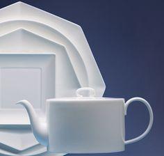 I like the geometric shapes.  Perhaps something to mix with my other white china. Wedgwood Ashlar