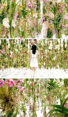 Floating Flower Garden art installation by TeamLab