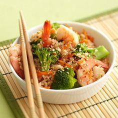 No-Fry Shrimp Stir-Fry  Just a few simple substitutions to make it aPaleo friendly dish!