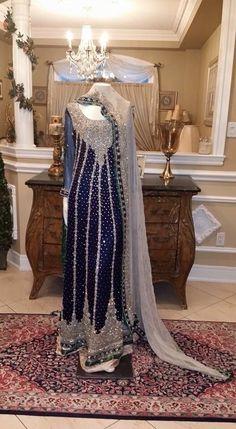 Royal blue pakistani suit