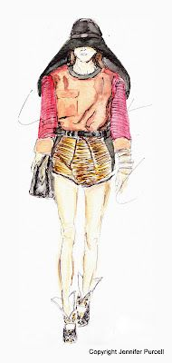 Fashion Illustration by Jennifer Purcell  Balenciaga S/S 2012