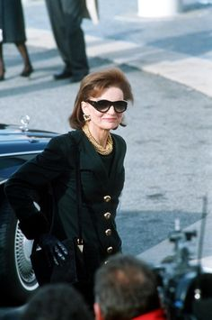 Jackie Kennedy photographed in December 1993, six months before her death.