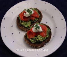 Izetta's Southern Cooking: AVOCADO TOAST WITH SALMON