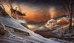 Deer Crossing - Terry Redlin - World-Wide-Art.com
