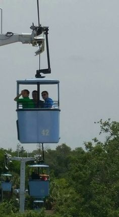 JT, Joshua, and Brandon on the Sky Ride at Busch Gardens - May 2016.