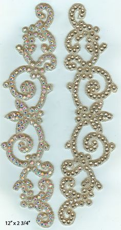 Rhinestone Appliques. I would prefer to stone my own appliques this could be nice to affix to hair.