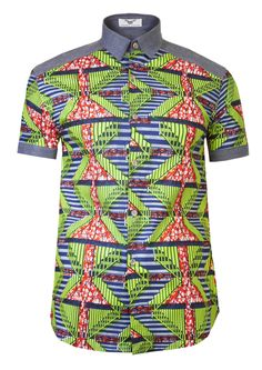 Ankara Shirt for Trendy Man - You will be blown away with this latest and most fashionable ankara style for men. from this ankara desi. African Attire For Men, African Shirts For Men, African Print Dresses, African Wear, African Fashion Dresses, African Prints, African Women, Ankara Fashion, African Style