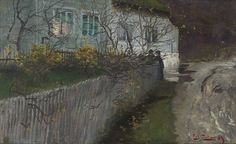 Frits Thaulow (1847-1906) - By an old Rectory, 1889