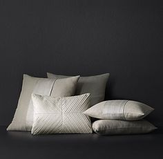Metallic Linen Pillow Cover